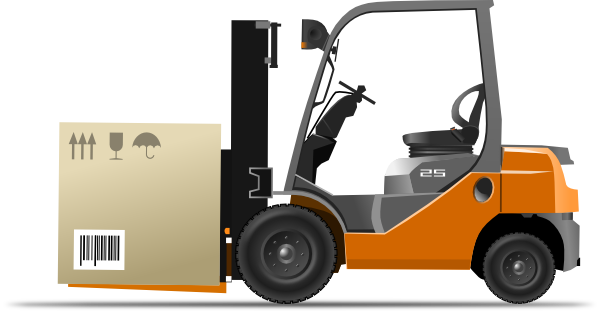 svg black and white Forklift clipart. Clip art at clker.
