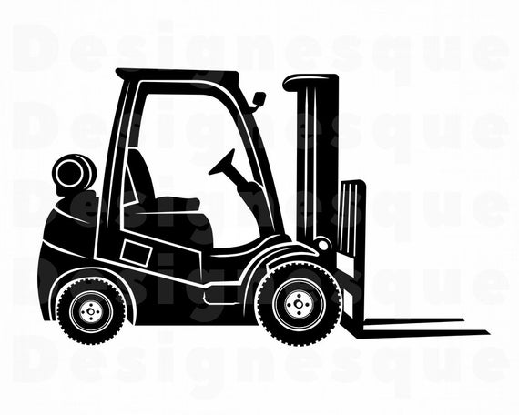 vector freeuse Svg files for cricut. Forklift clipart.
