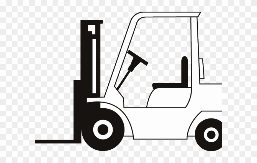 jpg free library Forklift clipart. Drawn truck fork lift.