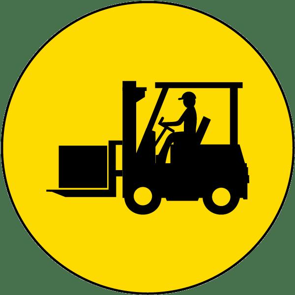 free Forklift Floor Sign E