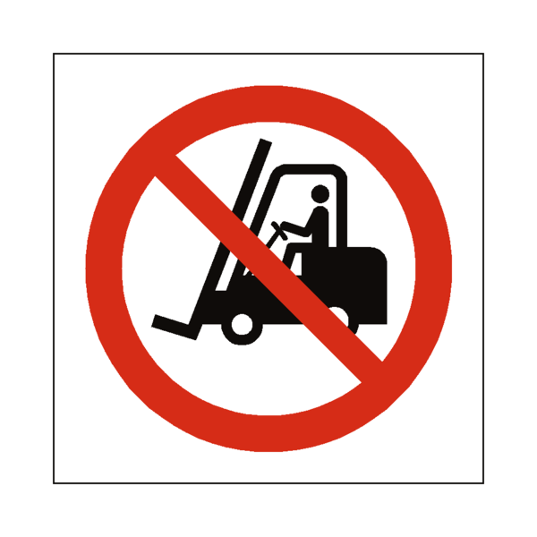 picture transparent stock No Access Forklift Truck Symbol Sign