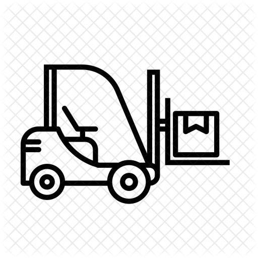 royalty free library Forklift