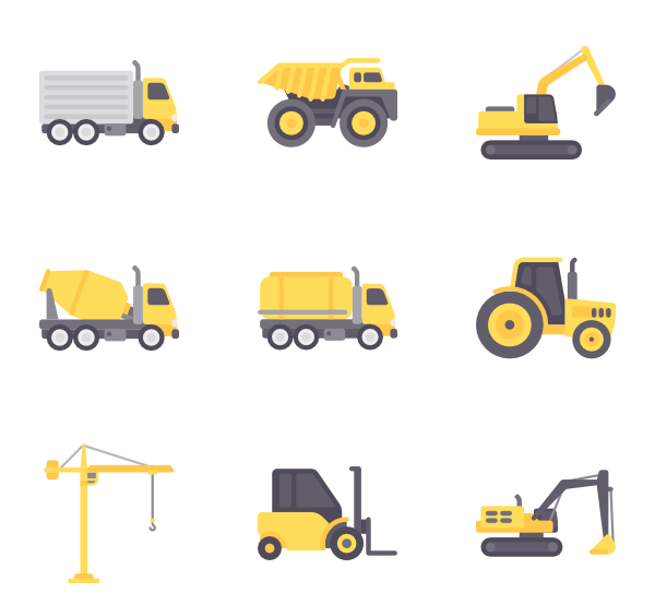 picture black and white download Forklift icons free construction. Vector constructors commercial vehicle