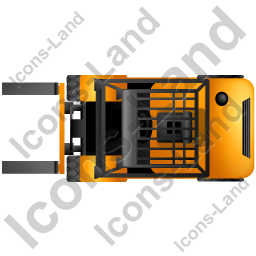 vector Forklift Truck Top Yellow Icon