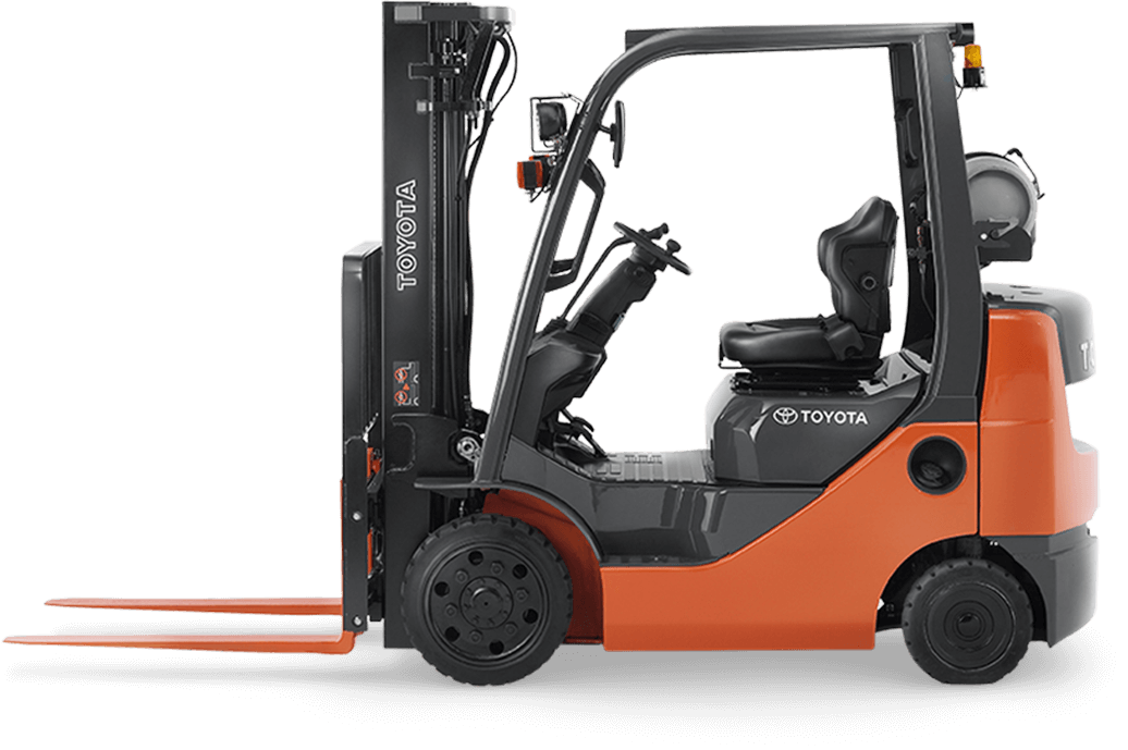 banner black and white library New Forklifts
