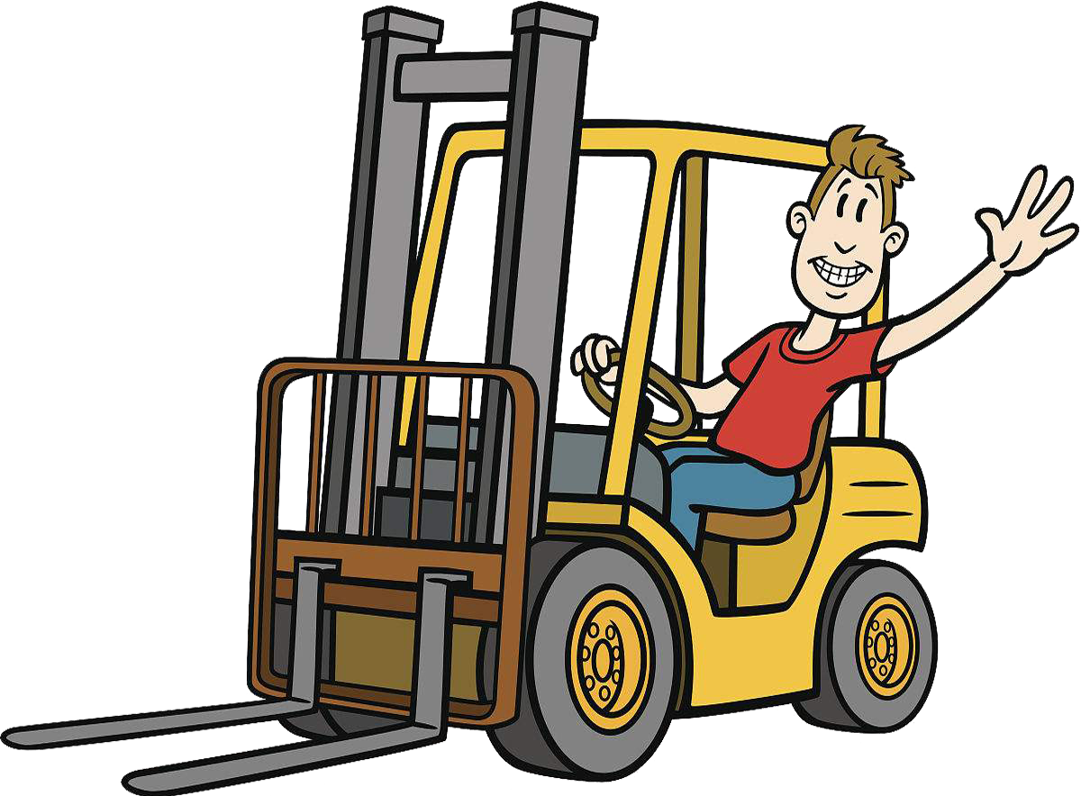 clipart royalty free stock Forklift clipart truck. Cartoon heavy equipment illustration