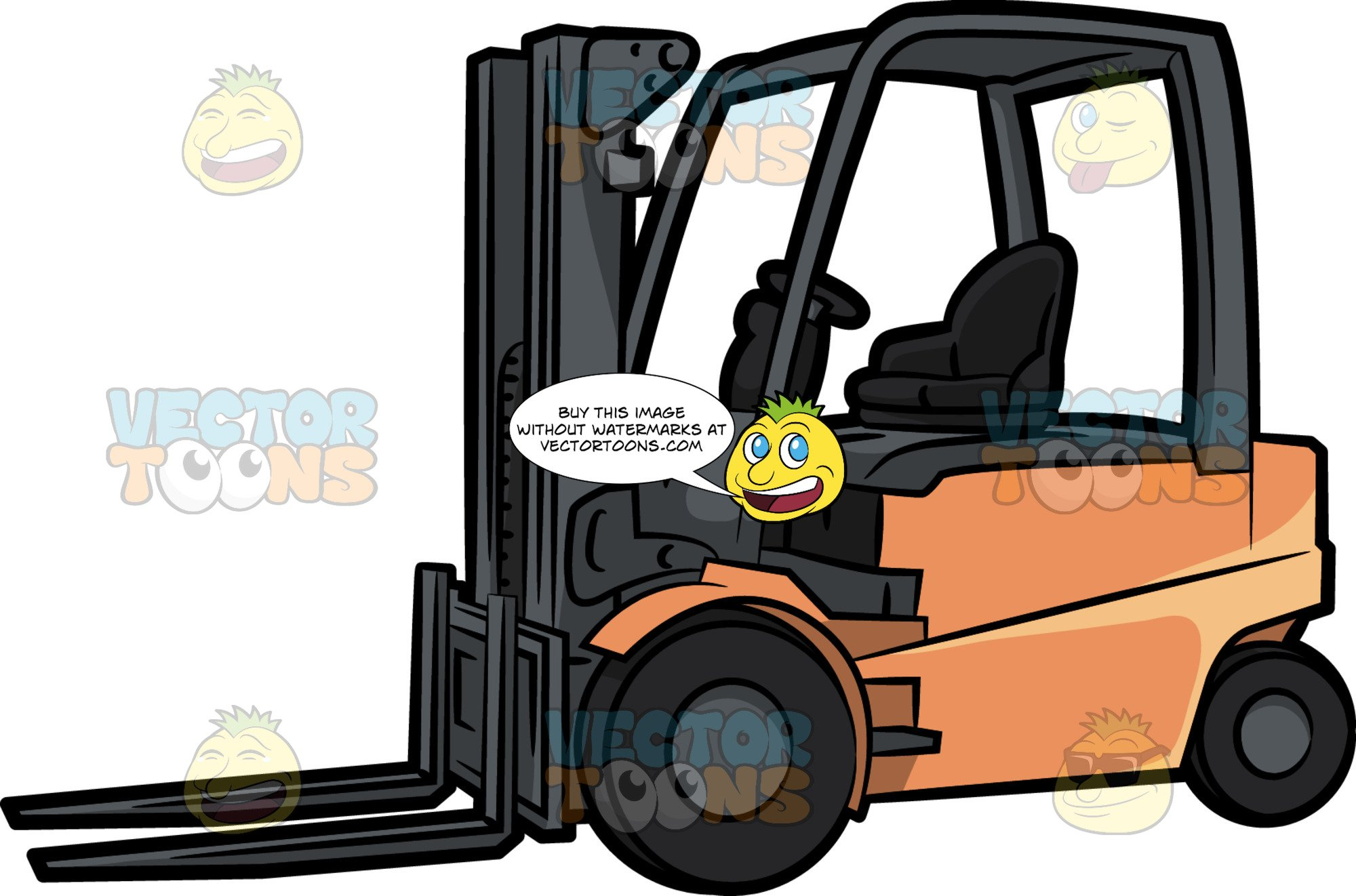 picture black and white stock Forklift clipart truck. A