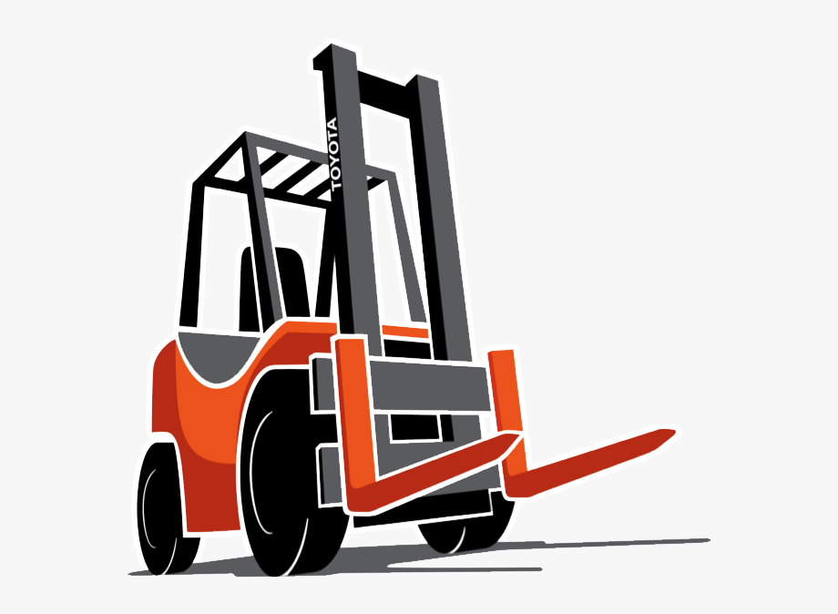 banner transparent library Toyota cartoon clip art. Forklift clipart truck