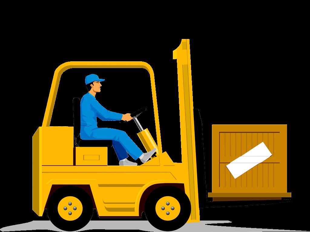 vector royalty free download Forklift Clip art