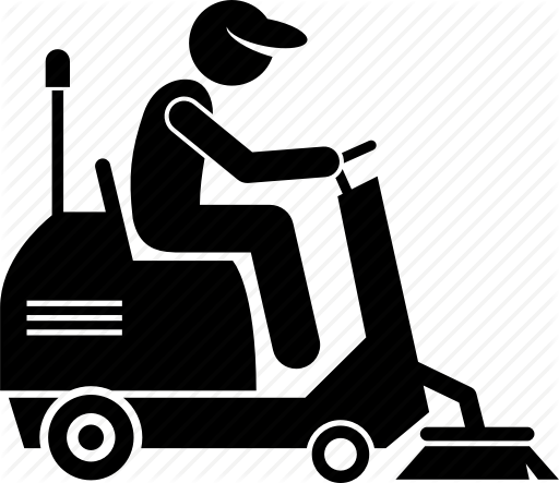 clipart black and white download Industrial Cleaning Worker