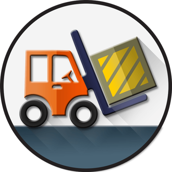 clip free stock Stand Up Forklift