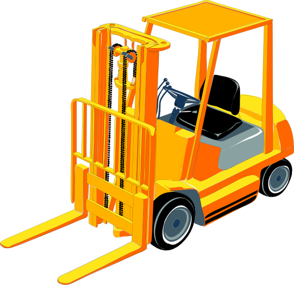 svg black and white Clip art at clker. Forklift clipart.