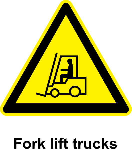 picture black and white Sign Fork Lift Trucks Clip Art at Clker