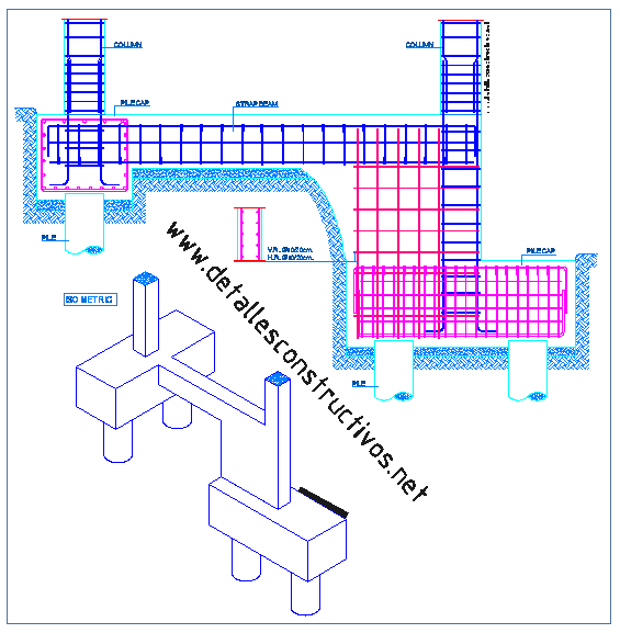 svg free library Foundations detallesconstructivos net stepped. Structural drawing