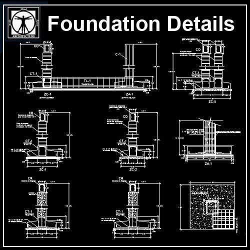 clip black and white download Foundation Details V