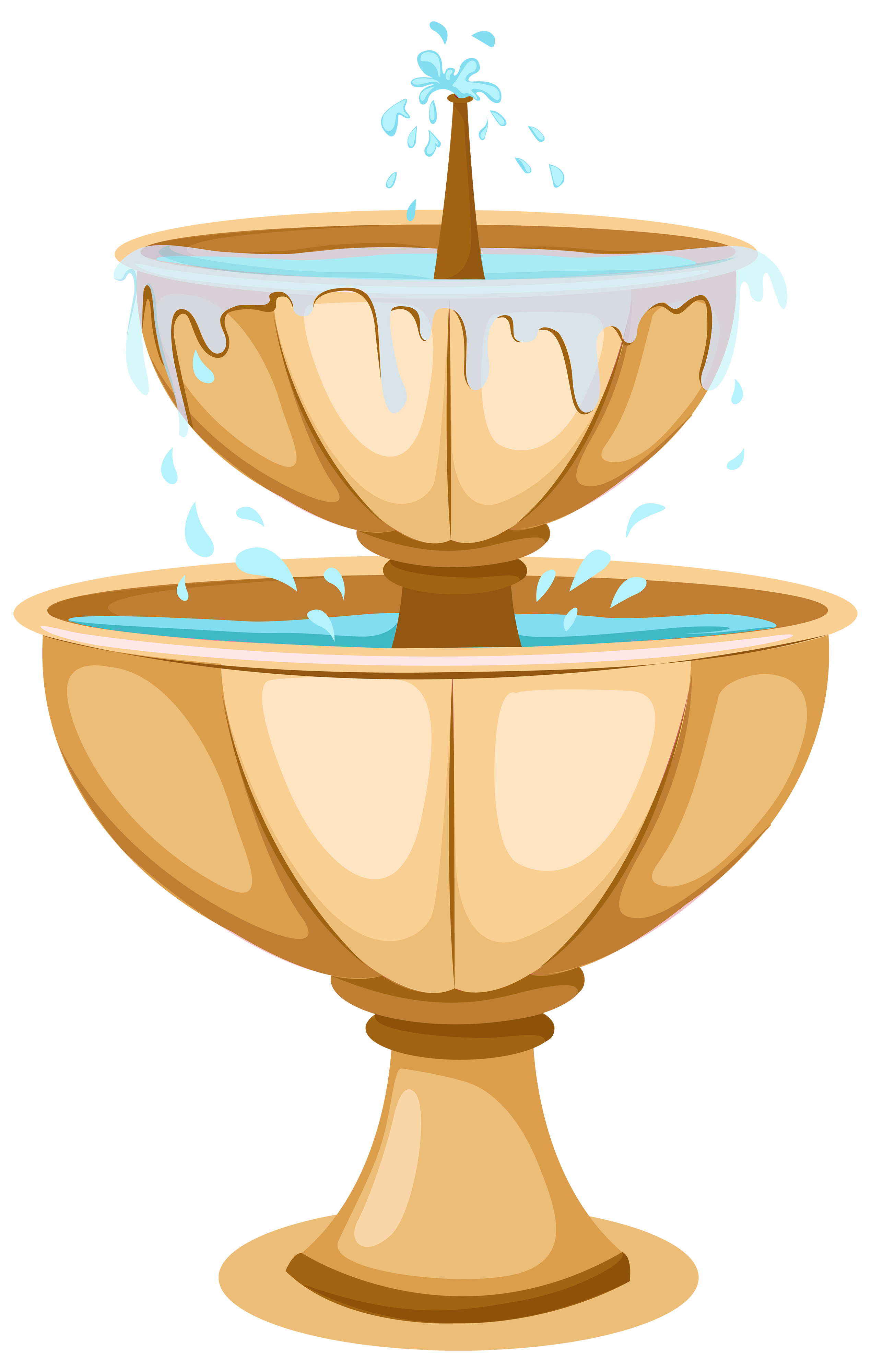 clipart black and white Fountain clipart. Garden png best web