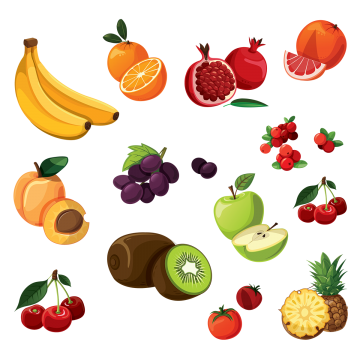 jpg free stock Fruit Set PNG Images