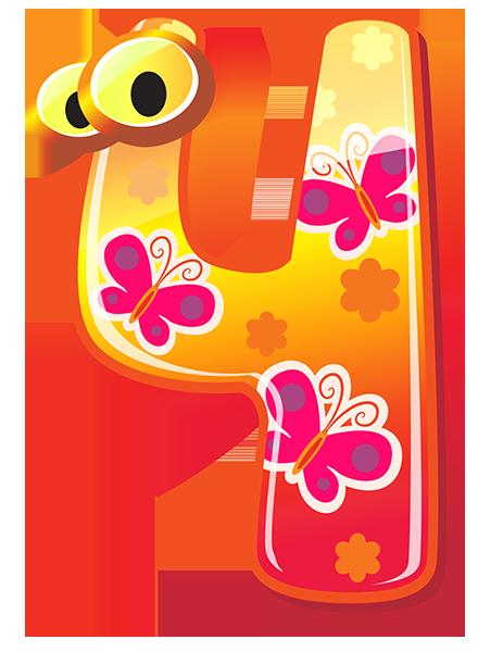 clip transparent Cute Numbers
