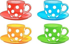 jpg royalty free Four clipart object. Cup and saucer panda