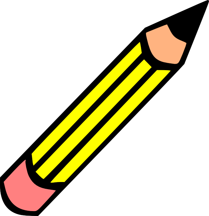 image free download Yes clipart two. Horizontal pencil clip art