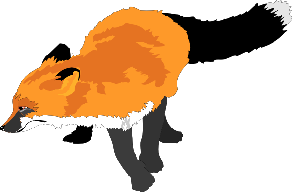 graphic black and white stock Fox clipart. Panda free images info