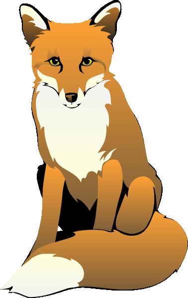 clip art free download Fox clipart black and white. Clip art sitting foxy