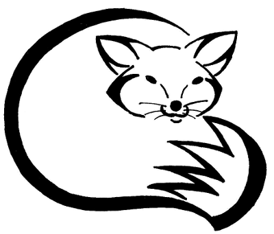image freeuse library Drawing at getdrawings com. Fox clipart black and white