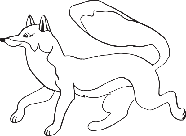 vector black and white Clip art at clker. Fox clipart black and white