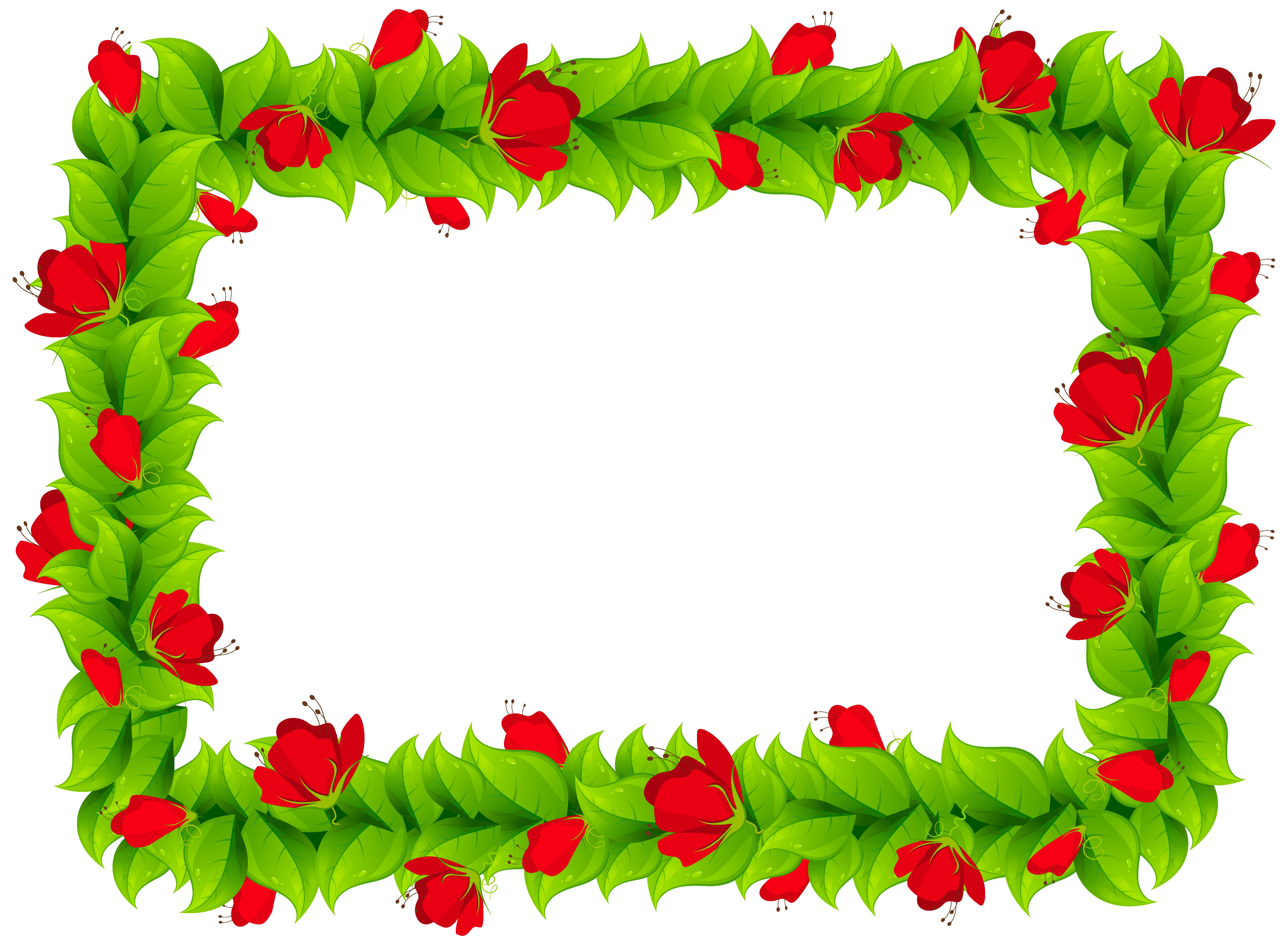 vector royalty free download Frame clipart. Floral border png image