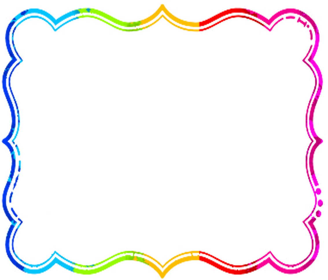 png library stock Rainbow frame . Clipart borders