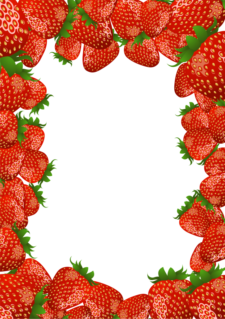 graphic library library Strawberry vine clipart. Transparent png frame with