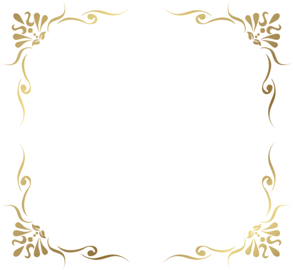 banner library Transparent Decorative Frame Border PNG Picture