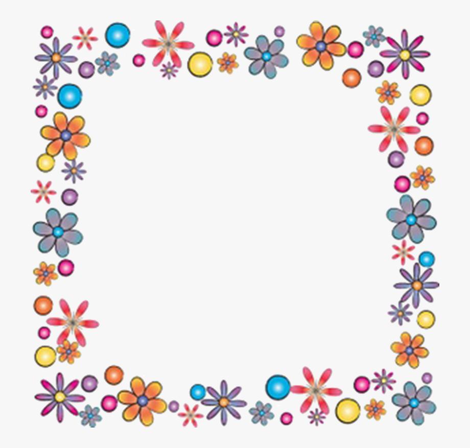 image freeuse download Frames clipart. Flower frame square border.