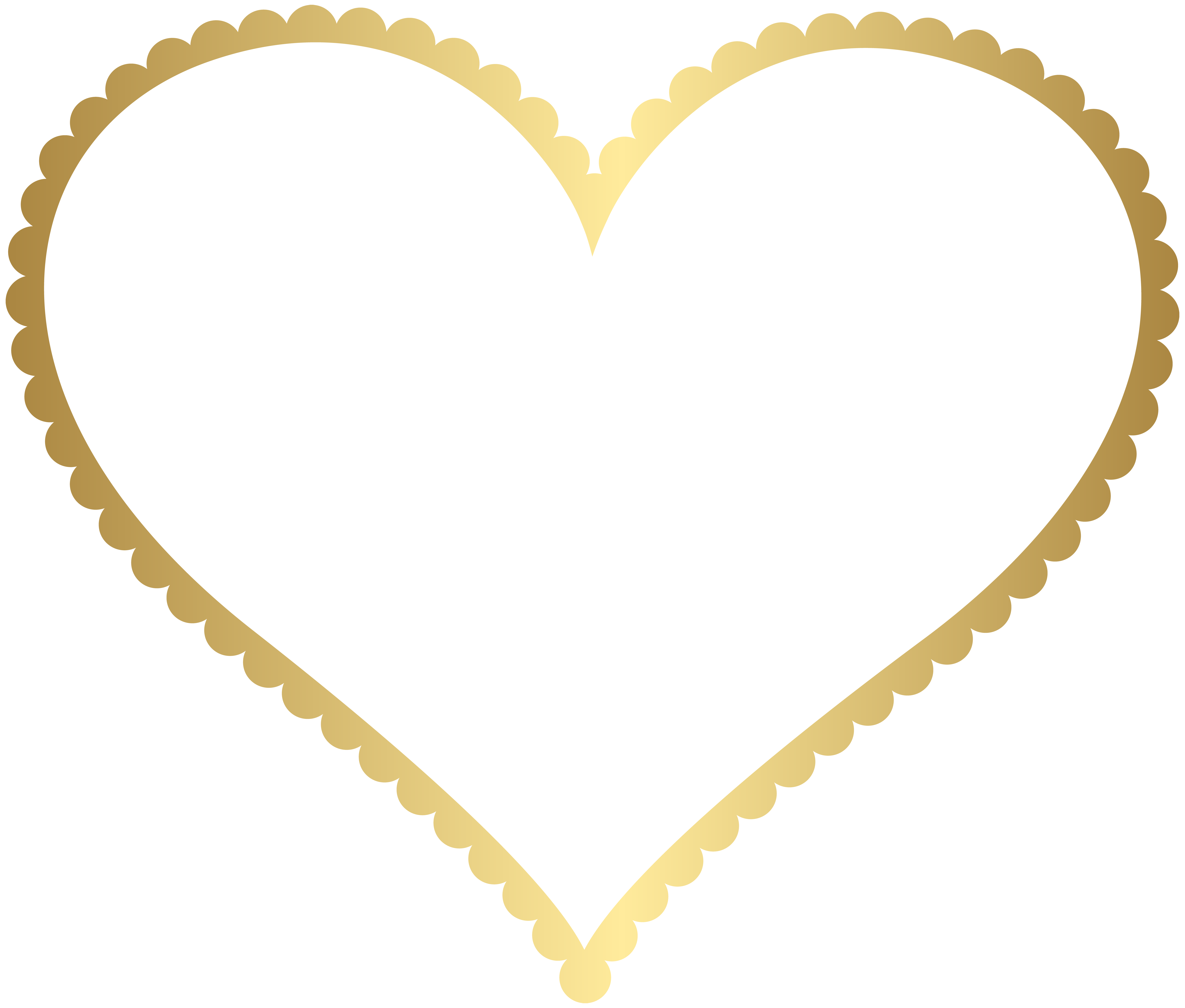 vector free Clipart hearts borders. Gold heart border frame