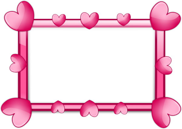 graphic freeuse library Pink Hearts Frame Clip Art at Clker