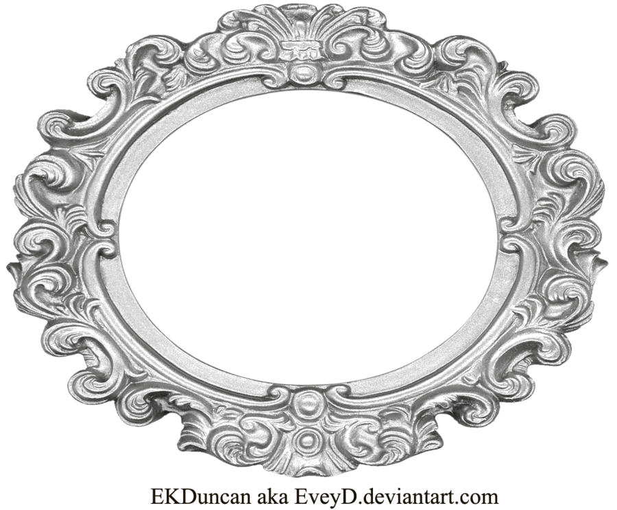 png freeuse library Marbles clipart vintage. Ornate silver frame wide.
