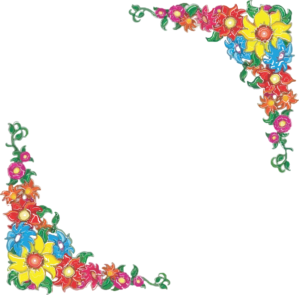 banner royalty free download Page clipart spring. Flower border other formats.