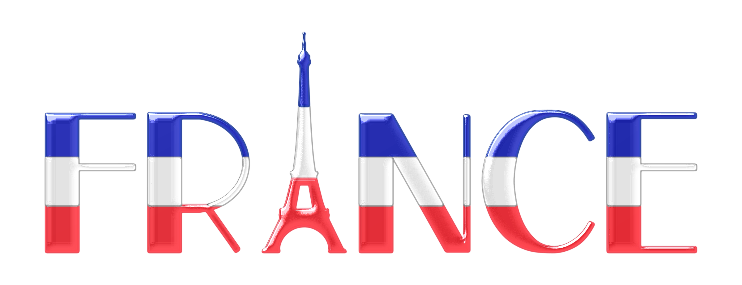 graphic black and white Typography enhanced big image. France clipart