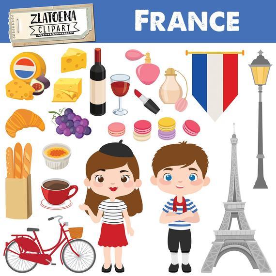 banner stock French clipart. Paris france digital art.