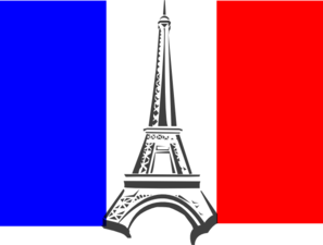 jpg library library French clipart. Flag france clip art.