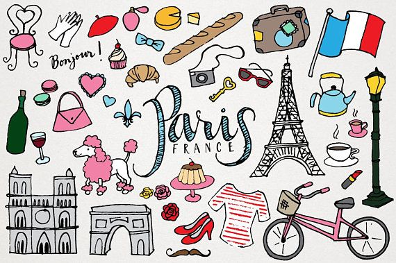 graphic freeuse stock France drawing. Paris clipart clip art