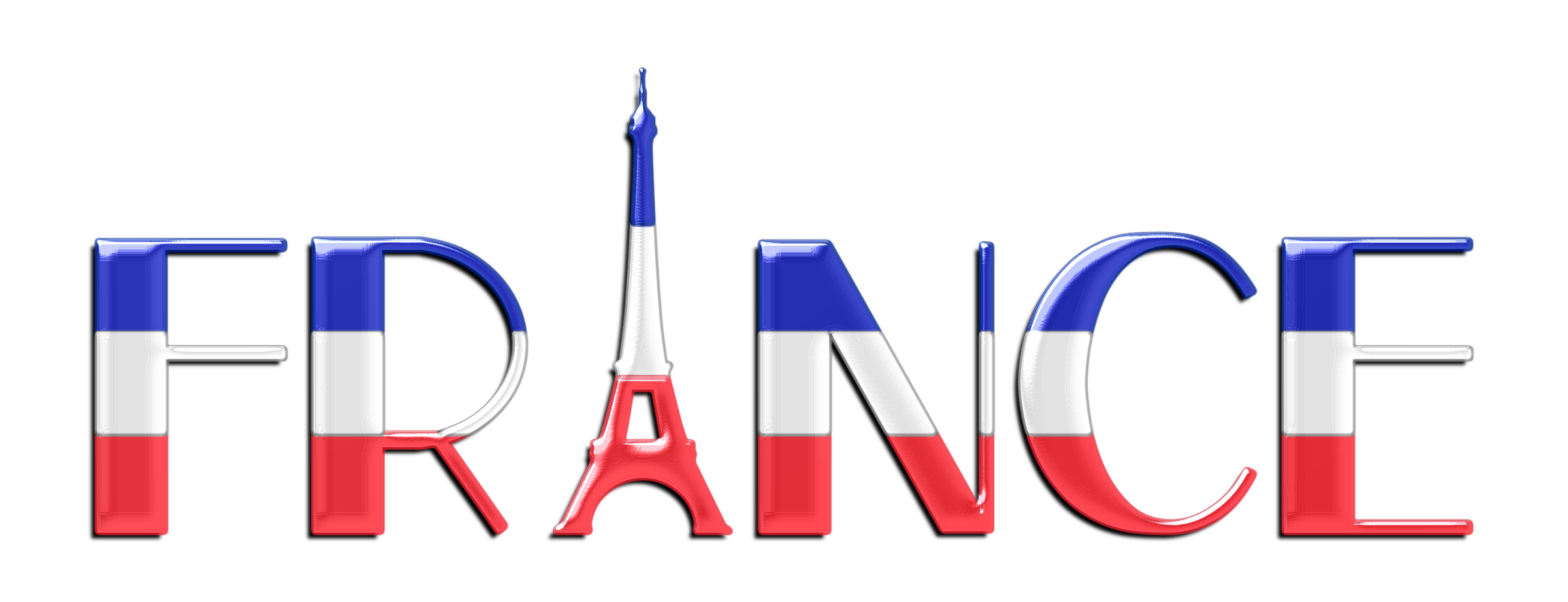 freeuse download France clipart. Typography enhanced big image