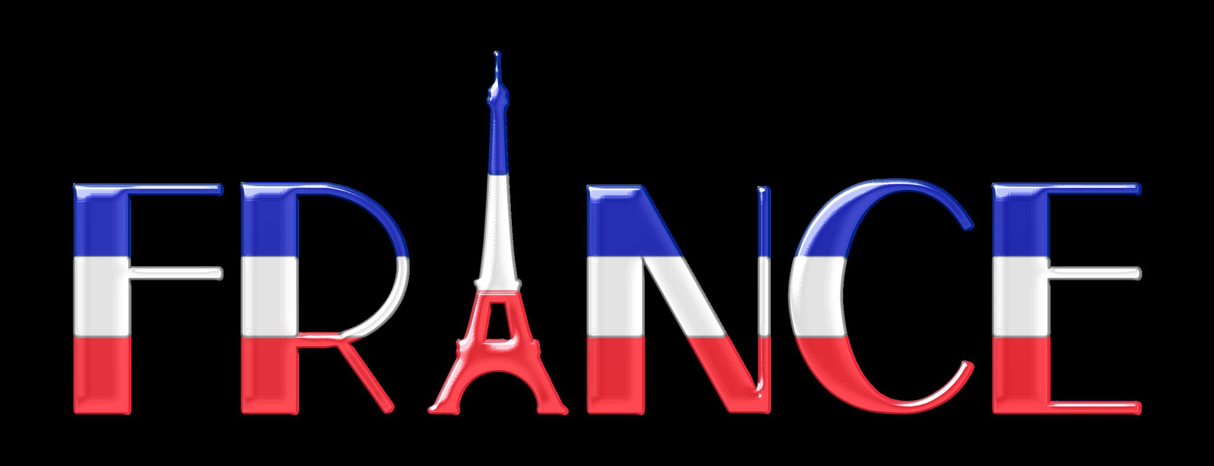 freeuse download France clipart. Typography enhanced big image.