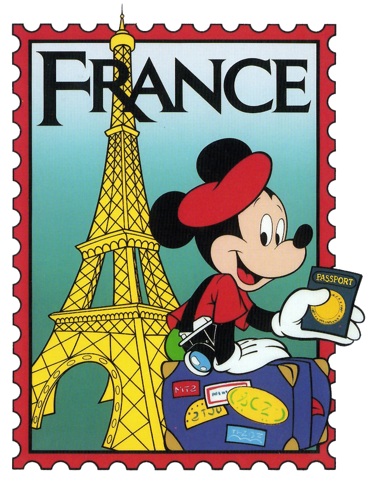 clip freeuse download Epcot mickey stamp clip. France clipart