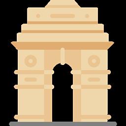 clipart library Landmark monuments mumbai architectonic. France clipart india gate