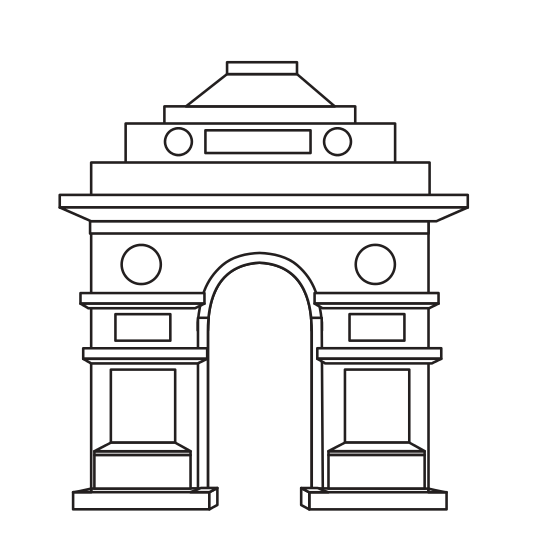 clip royalty free stock France clipart india gate. Delhi icons by canva
