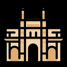 clipart library France clipart india gate. Landmark monuments mumbai architectonic