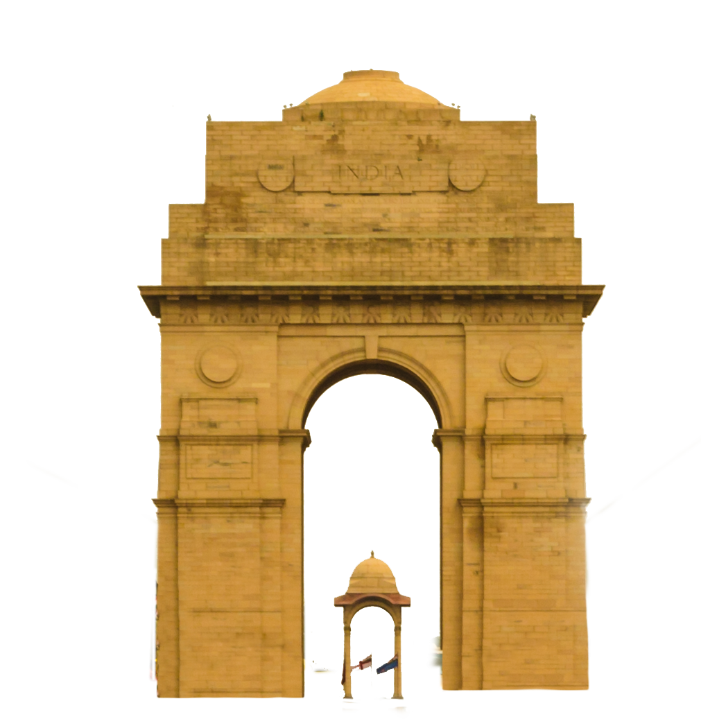 vector black and white New delhi indian famous. France clipart india gate
