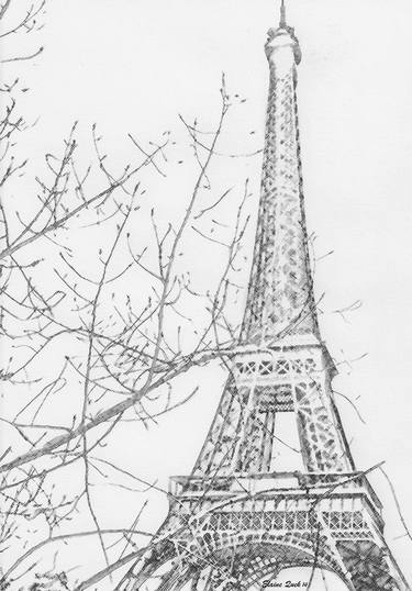 clip art royalty free library Eiffel tower paris by. France drawing