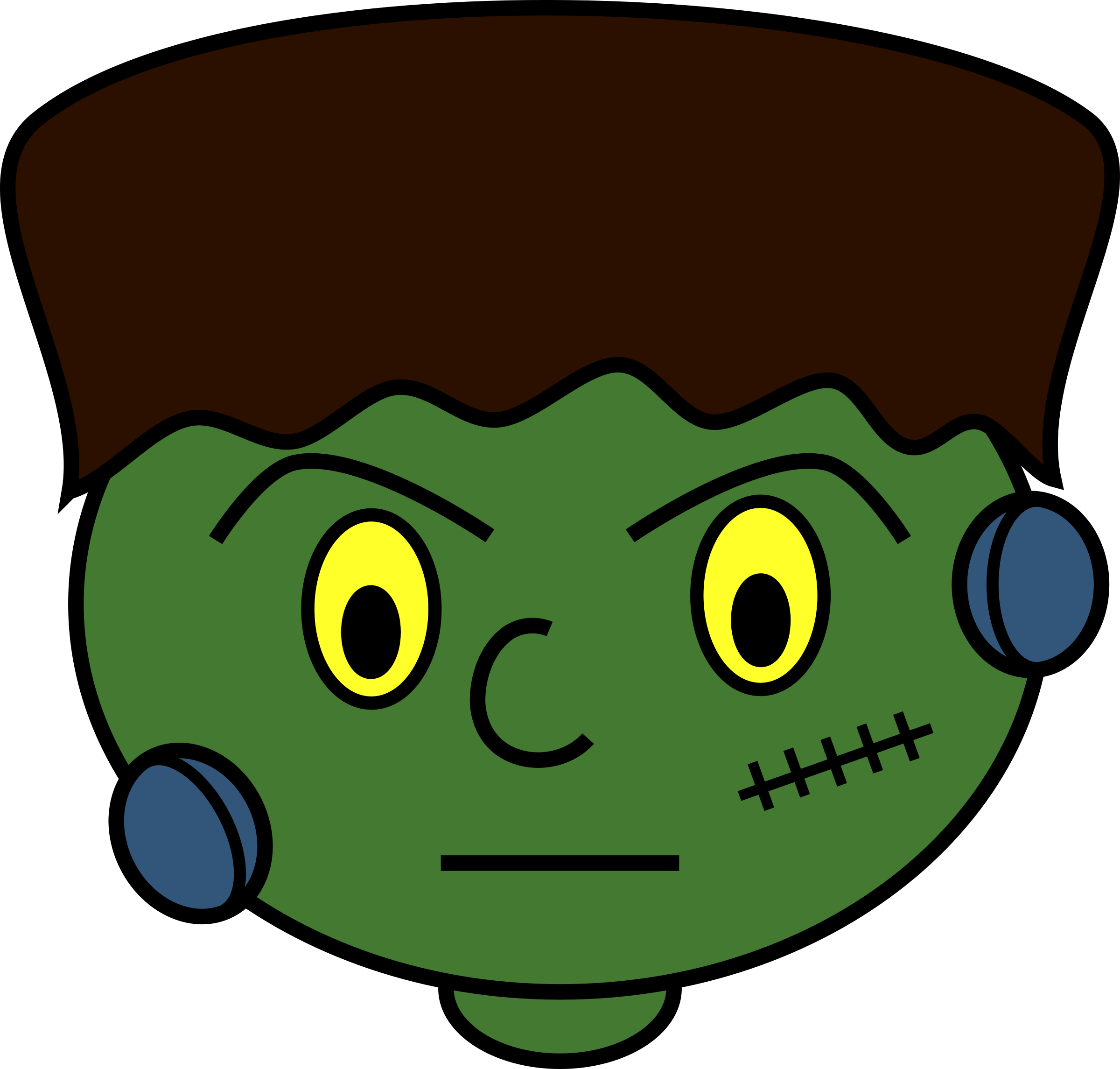 banner free library Frankenstein clipart. Young monster big image.